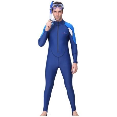 Лайкровый гидрокостюм синий без шлема